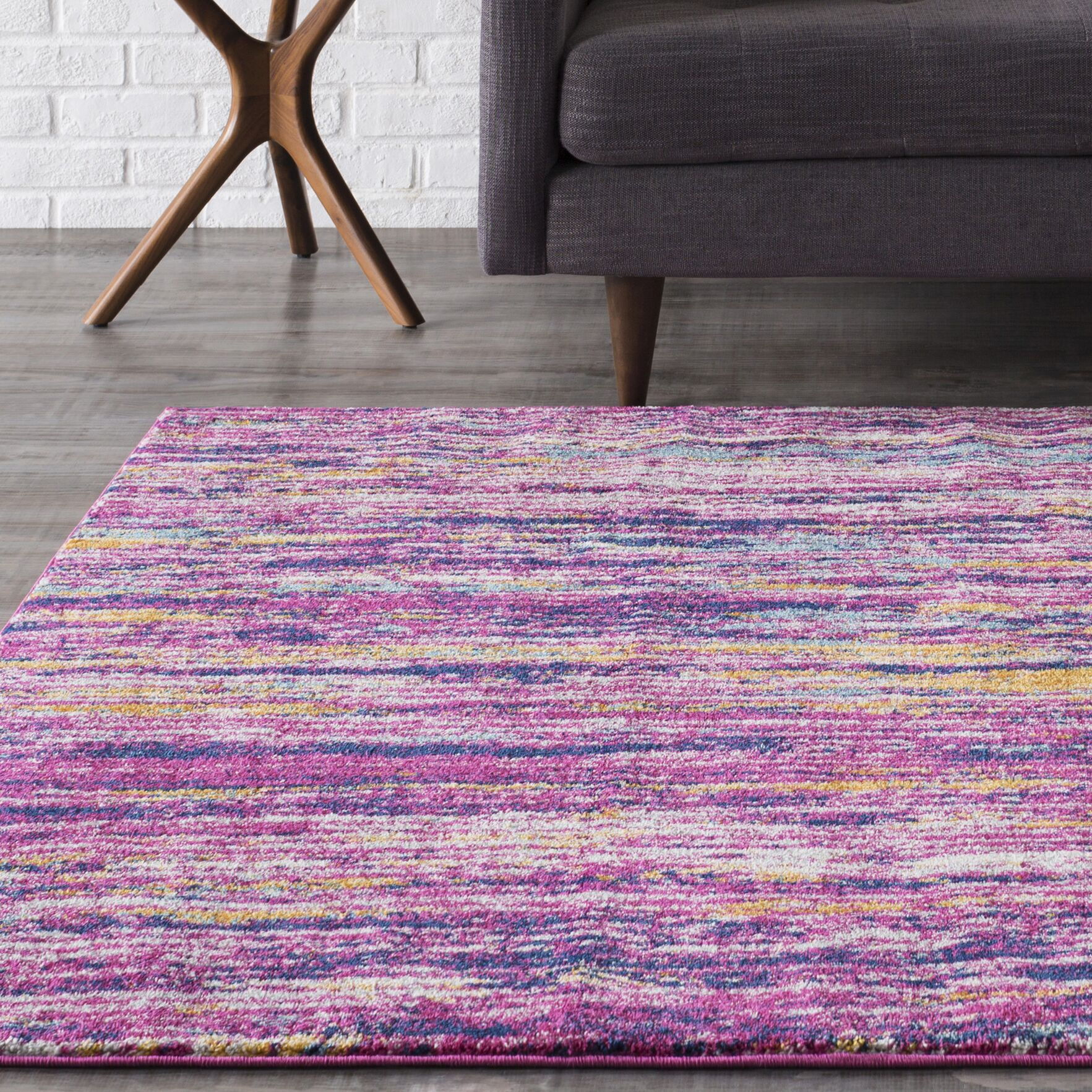 Hillsby Purple Area Rug Rug Size: Rectangle 3'11