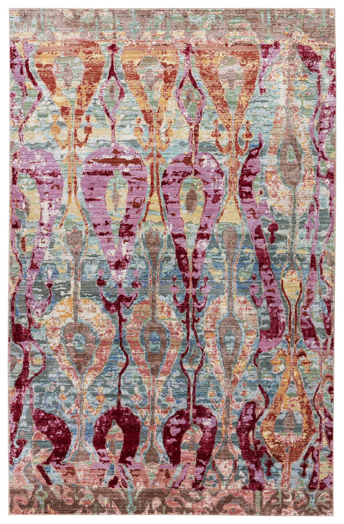 Javon Power Loom Polyester Ikat/Multicolor Area Rug Rug Size: Rectangle 7'8