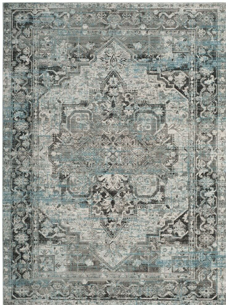 Norwood Oriental Blue/Gray Area Rug Rug Size: Rectangle 4' x 5'9