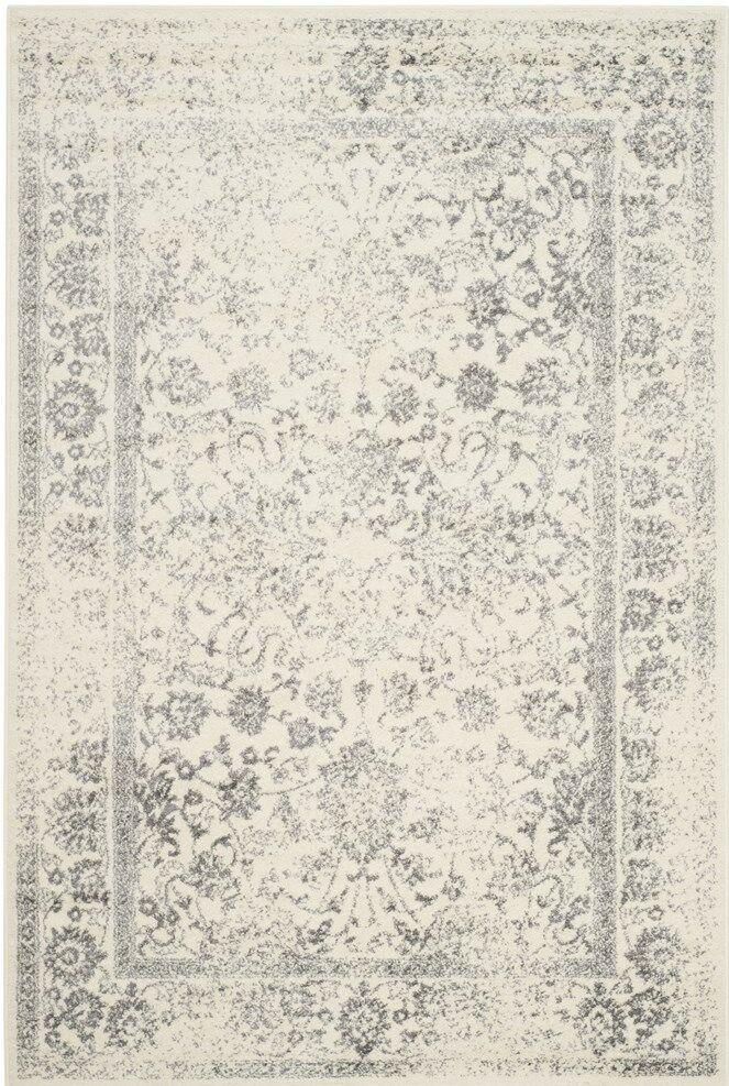 Josie Gray/Beige Area Rug Rug Size: Rectangle 5' x 7'