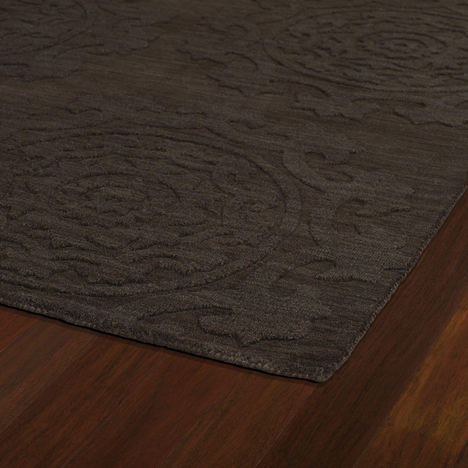 Ouinane Chocolate Solid Area Rug Rug Size: Rectangle 9'6