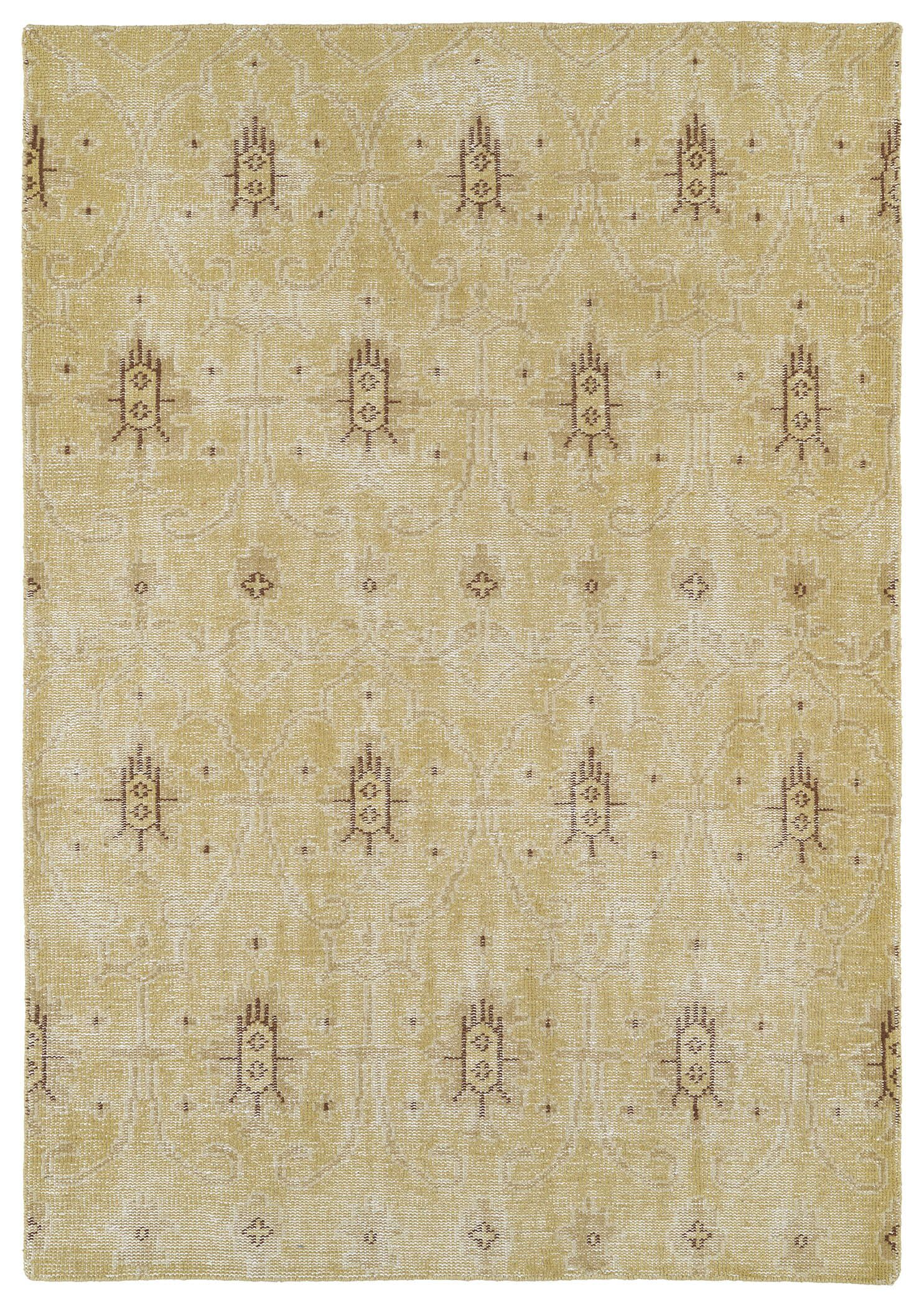 Anjali Gold Area Rug Rug Size: Rectangle 8' x 10'