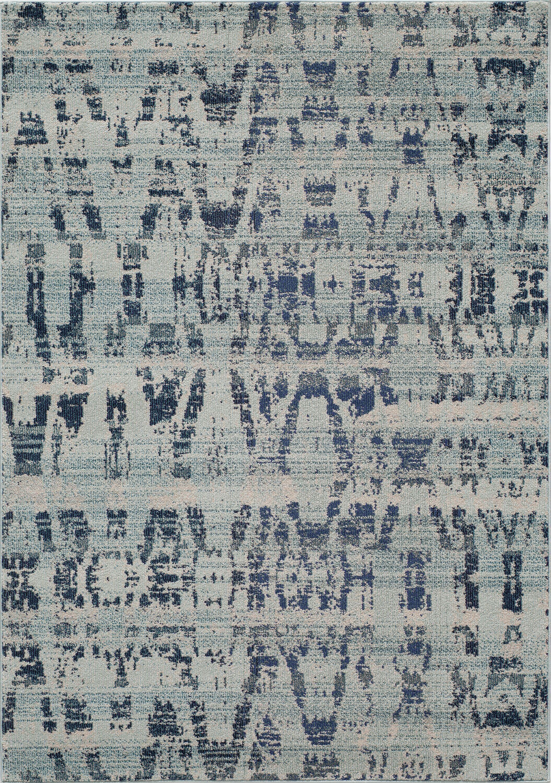 Denissa Blue Area Rug Rug Size: Rectangle 5'3