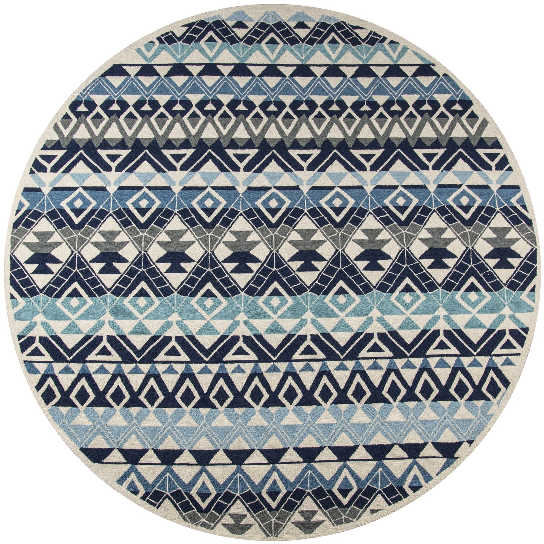 Aderdour Blue Area Rug Rug Size: Rectangle 5' x 8'