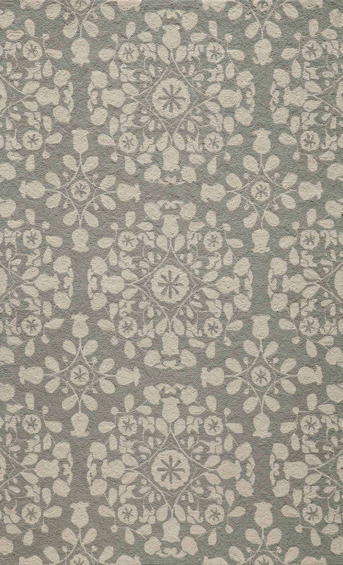 Roeser Gray Area Rug Rug Size: Rectangle 8' x 10'