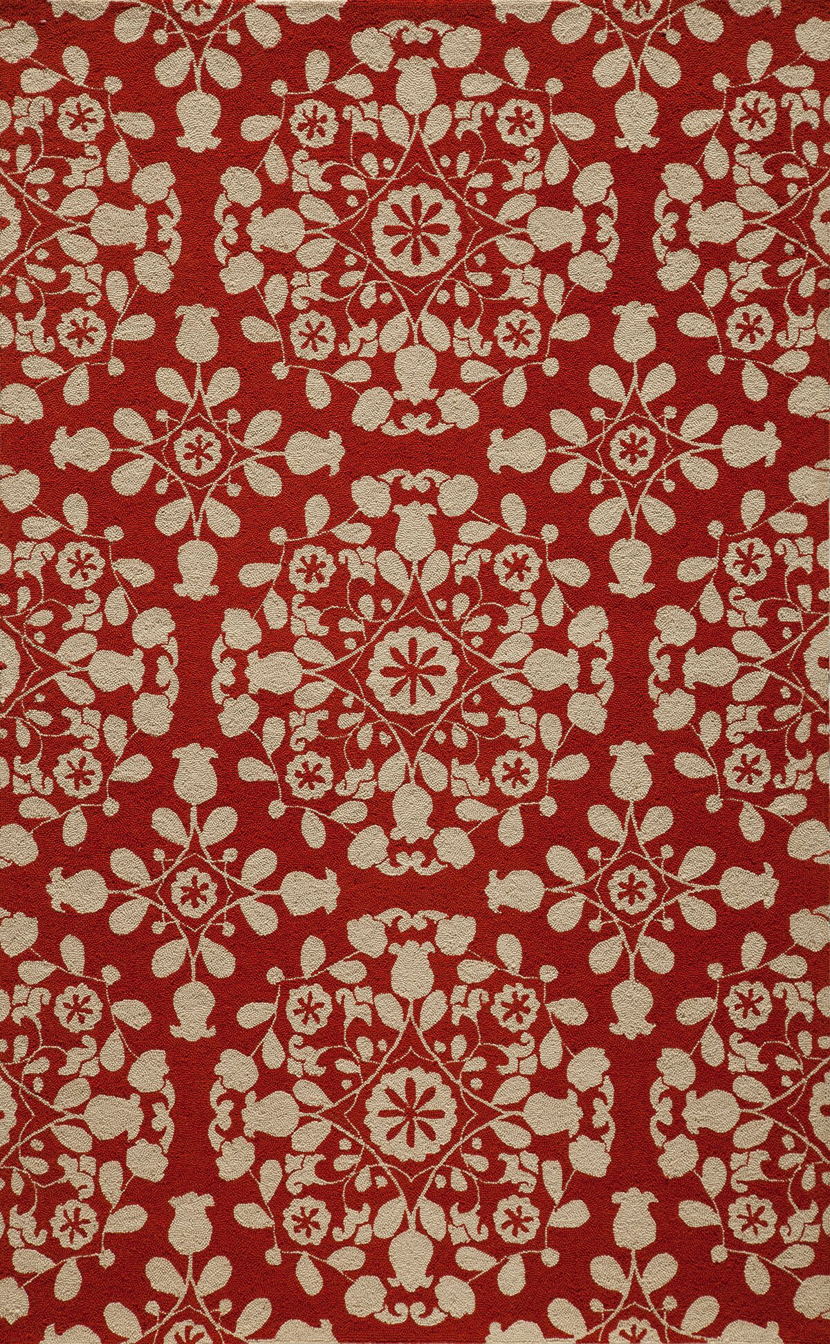 Roeser Red Area Rug Rug Size: Rectangle 5' x 8'