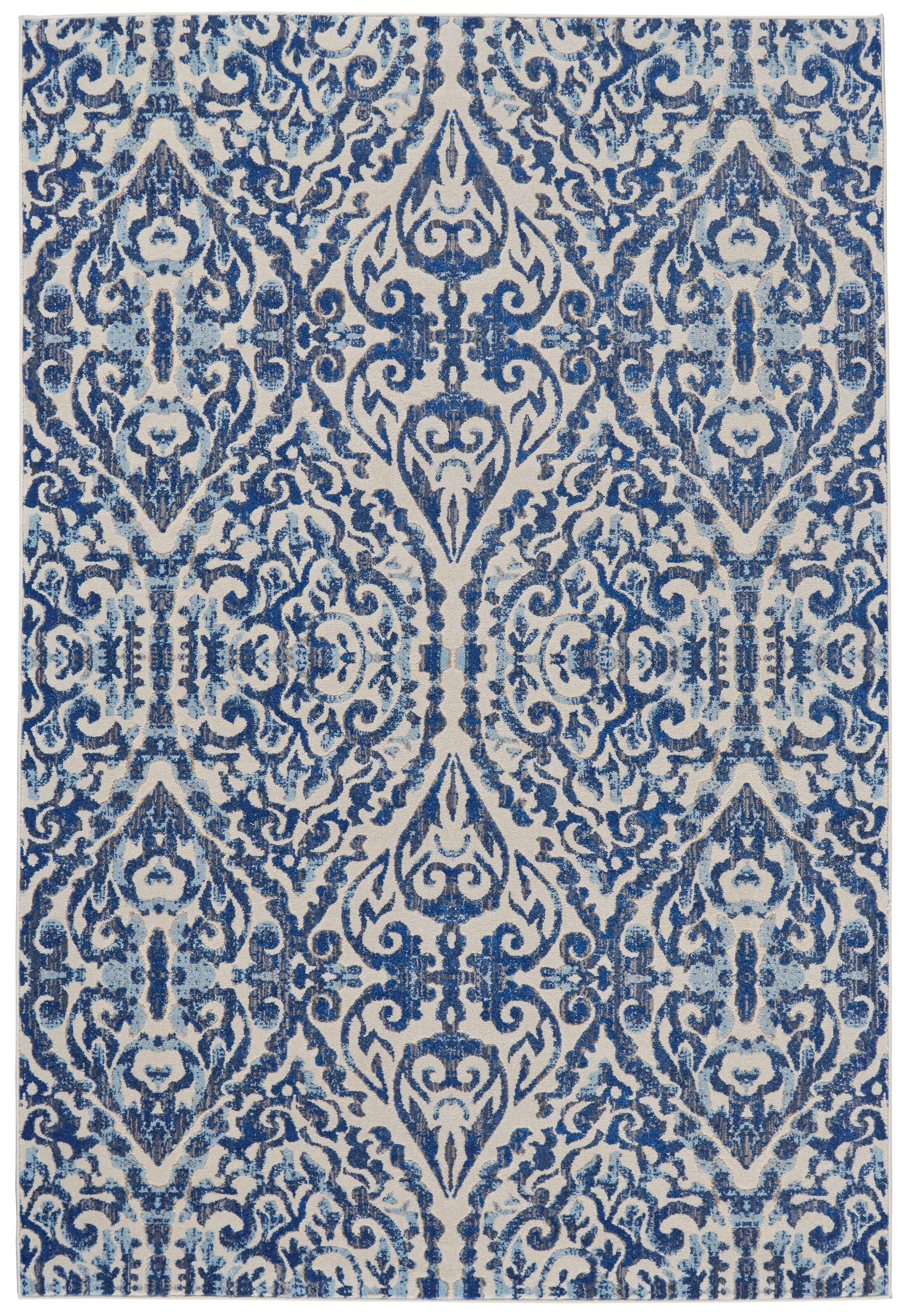 Dunellon Blue Area Rug Rug Size: Rectangle 10'2