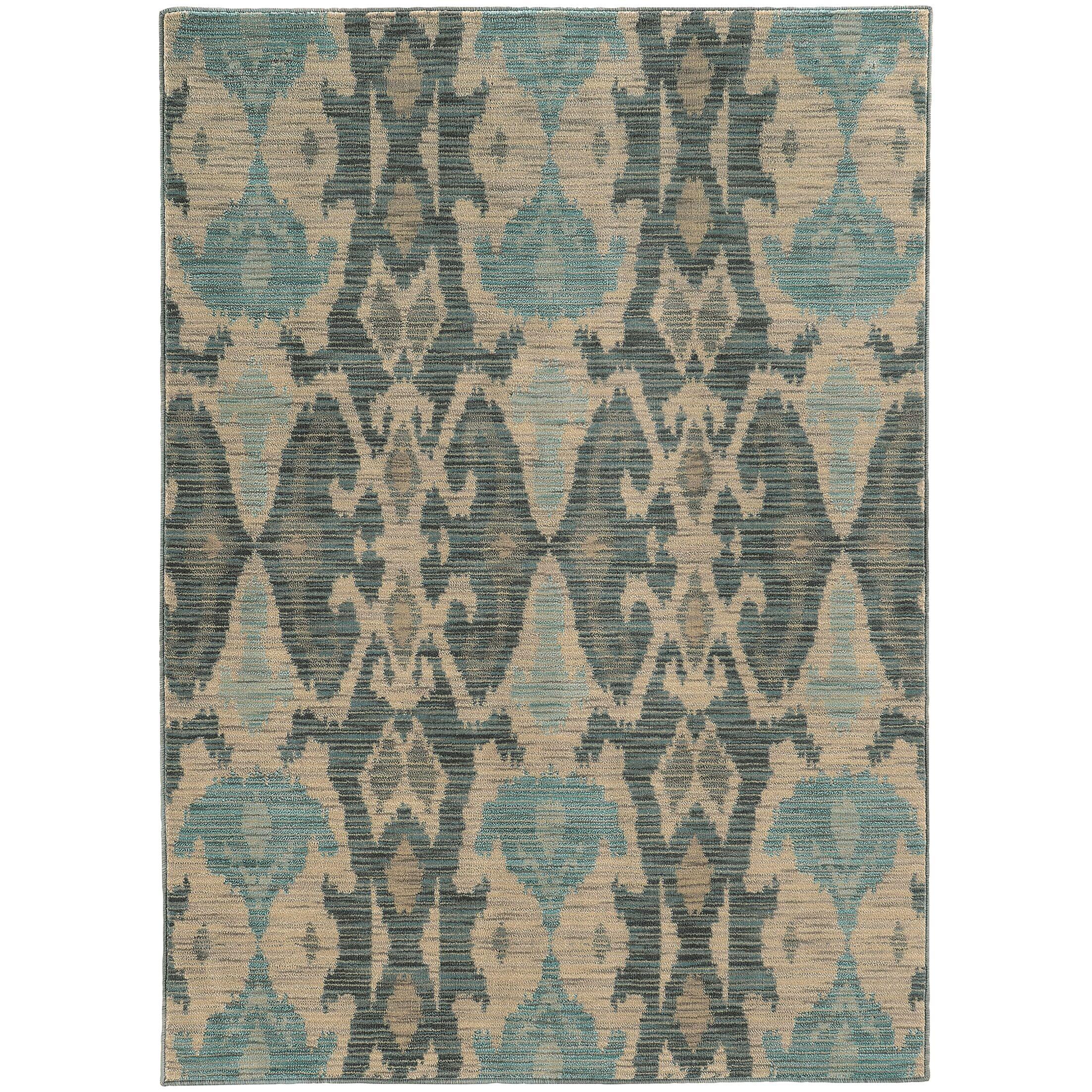 Aydan Ivory/Grey Area Rug Rug Size: Rectangle 7'10