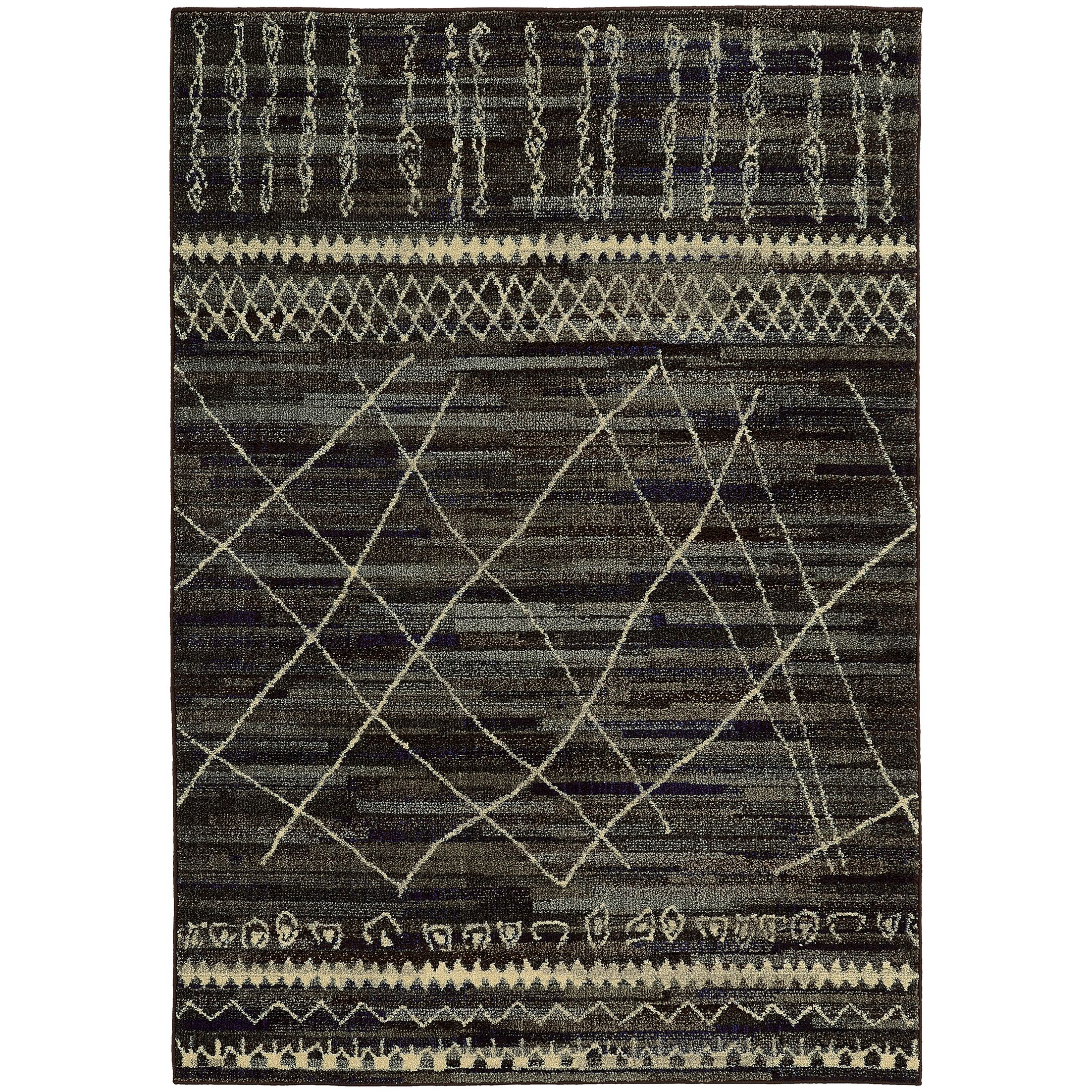 Marquis Black/Beige Area Rug Rug Size: Rectangle 9'9