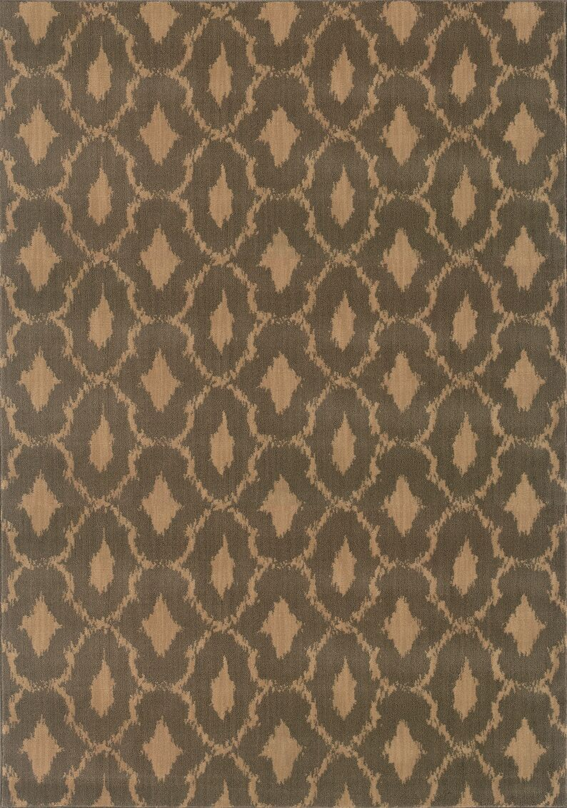 Sincere Brown/Green Area Rug Rug Size: Rectangle 3'10