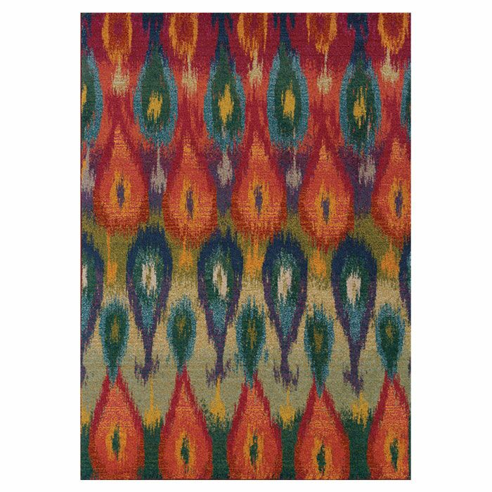 Terrell Red/Green Area Rug Rug Size: Rectangle 4' x 5'9