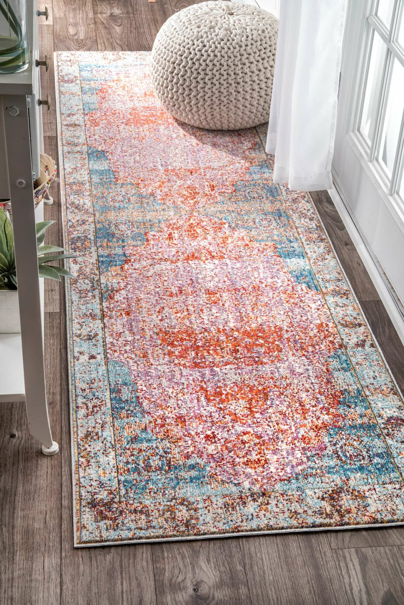Ernesto Orange Area Rug Rug Size: Rectangle 5'3