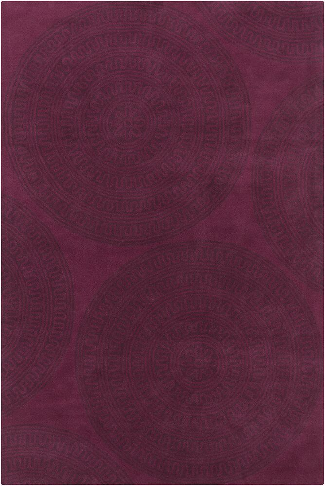 Inara Hand Tufted Wool Wine/Dark Wine Area Rug Rug Size: 8' x 10'