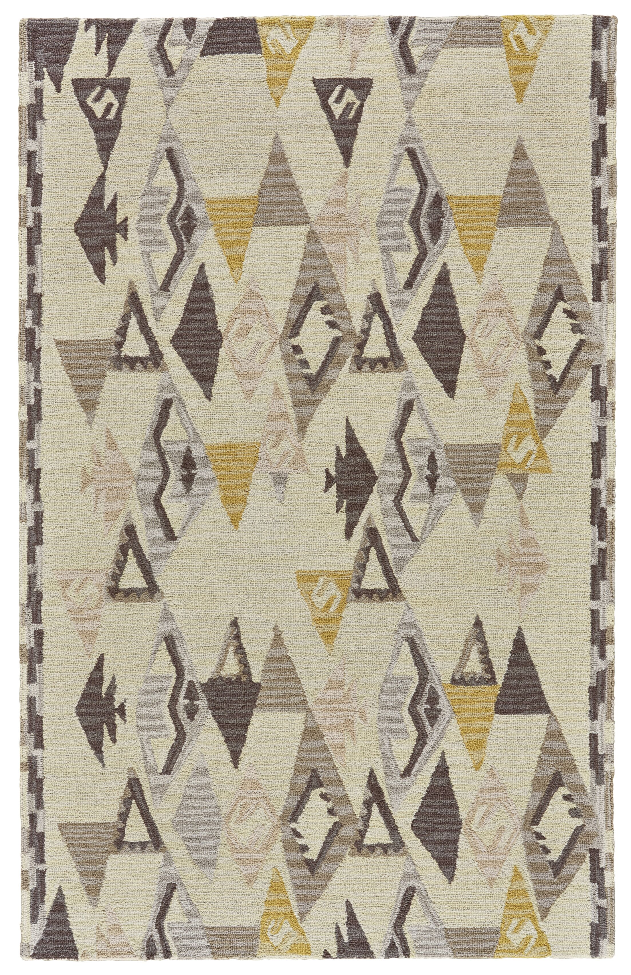 Pacifica Hand-Tufted Yellow/Natural Area Rug Rug Size: Rectangle 8' x 11'