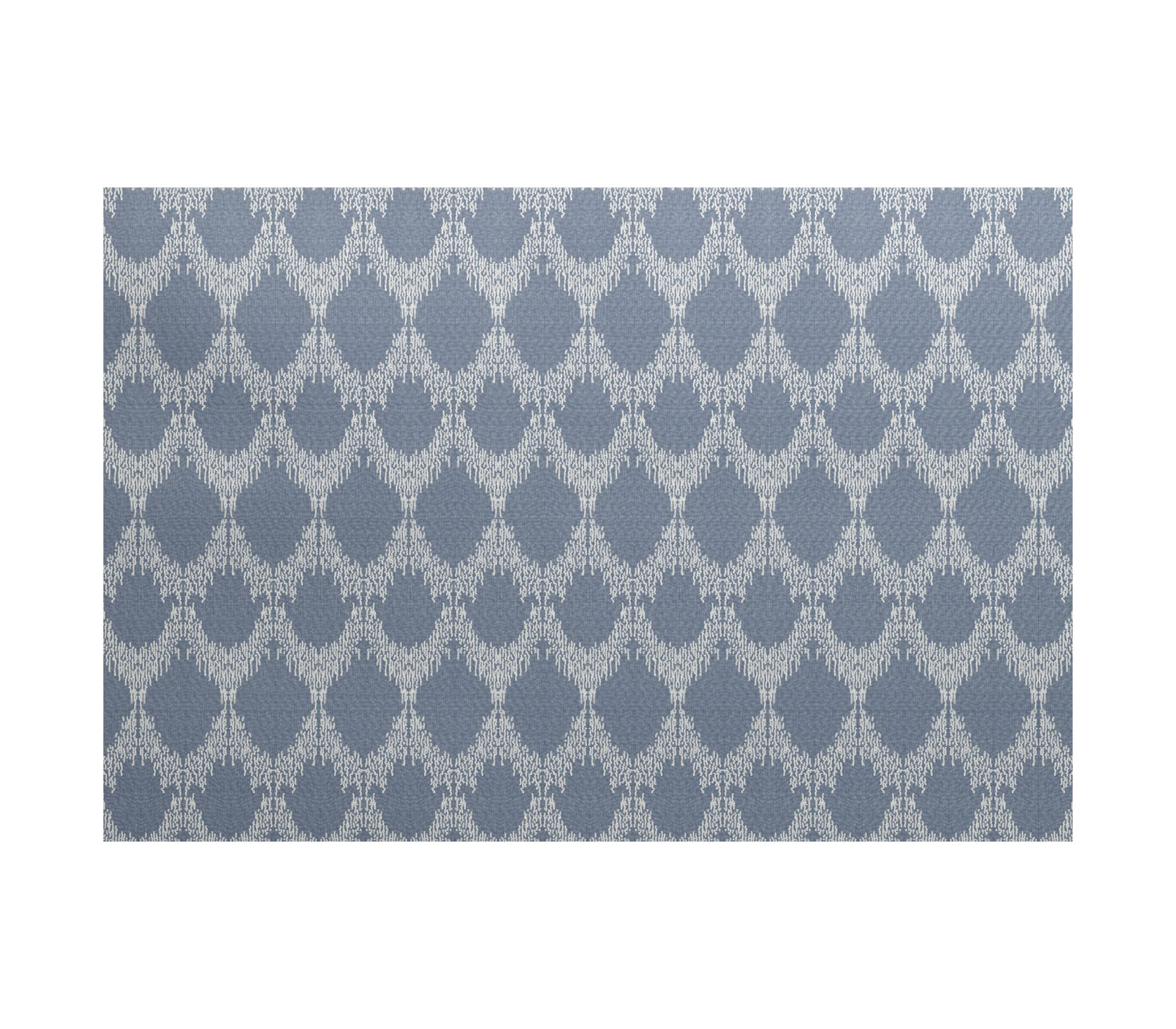 Lassiter Geometric Blue Area Rug Rug Size: Rectangle 5' x 7'