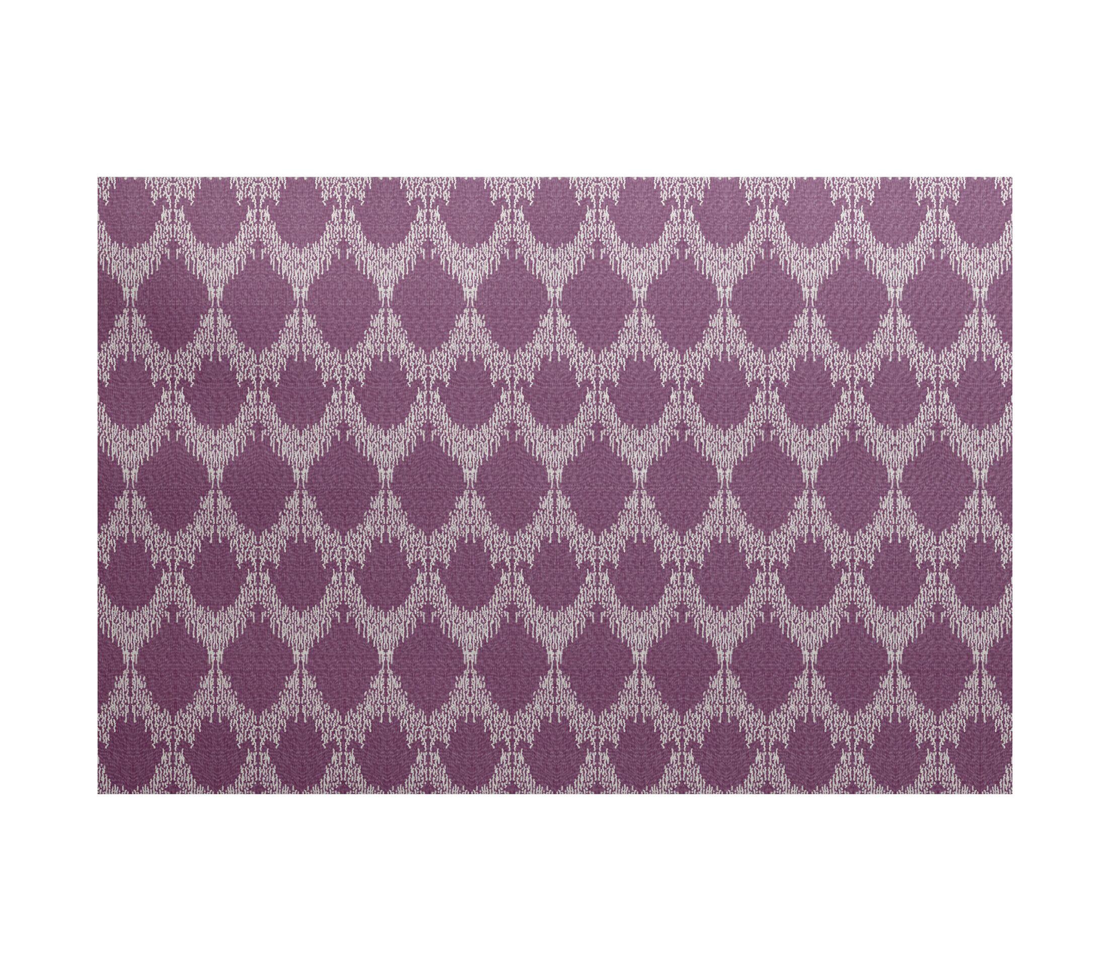 Lassiter Geometric Purple Area Rug Rug Size: Rectangle 4' x 6'