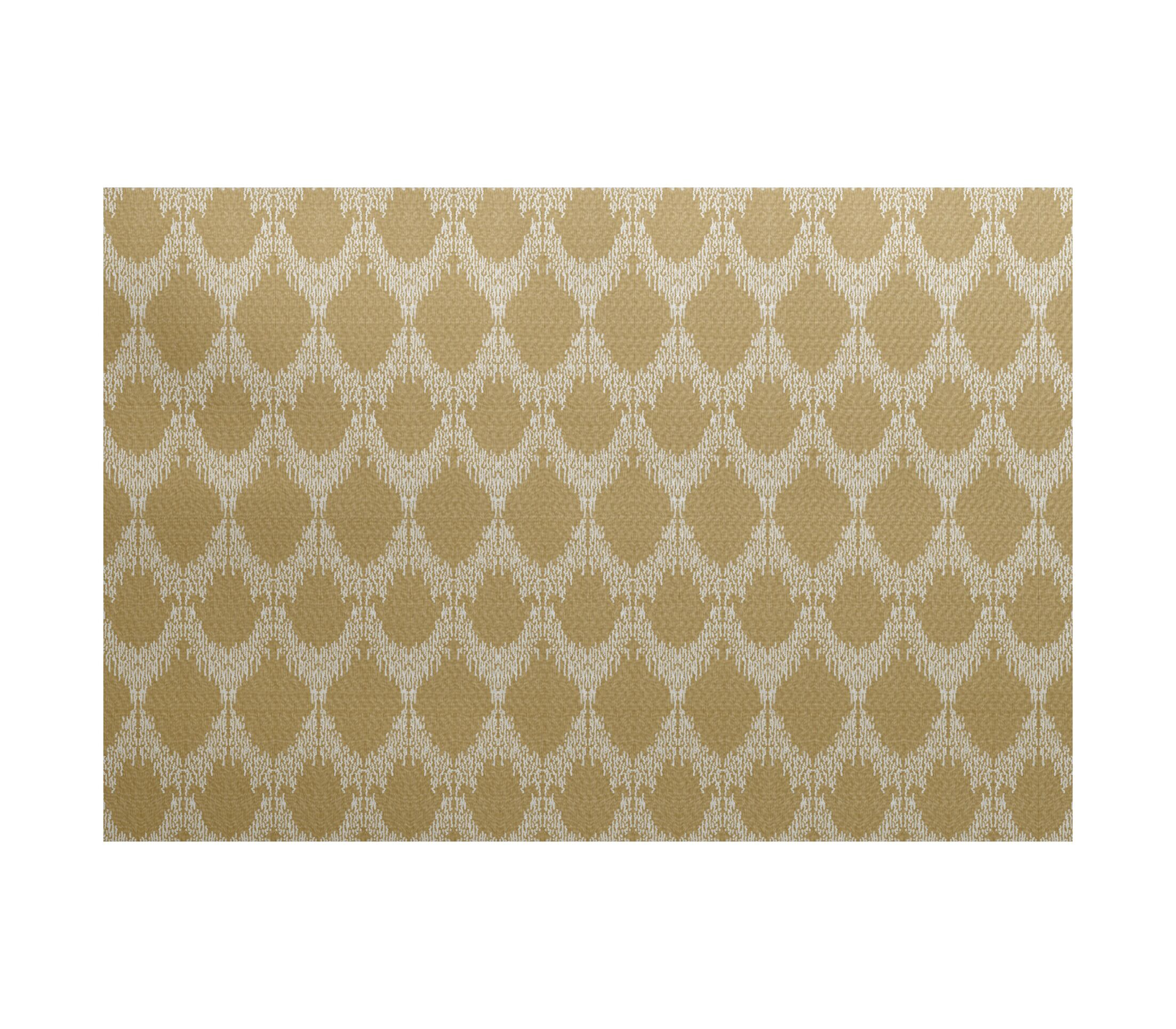 Lassiter Geometric Gold Area Rug Rug Size: Rectangle 4' x 6'