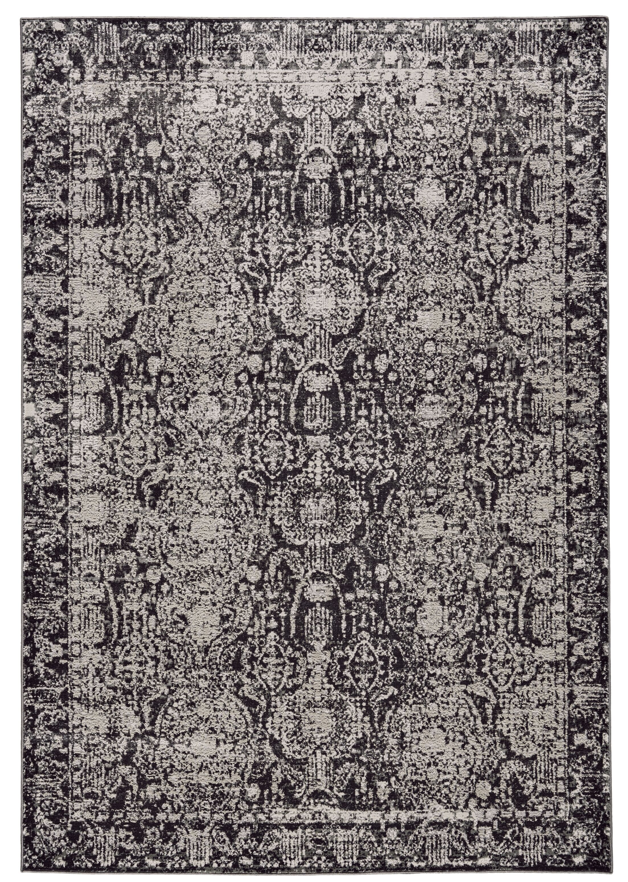 Diana Charcoal/Gray Area Rug Rug Size: Rectangle 8' x 11'