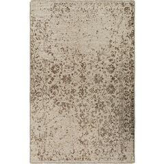 Jayden Hand-Knotted Dark Brown/Khaki Area Rug Rug Size: 2' x 3'