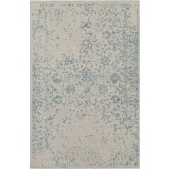 Gulshan Hand-Knotted Denim/Khaki Area Rug Rug Size: Rectangle 6' x 9'