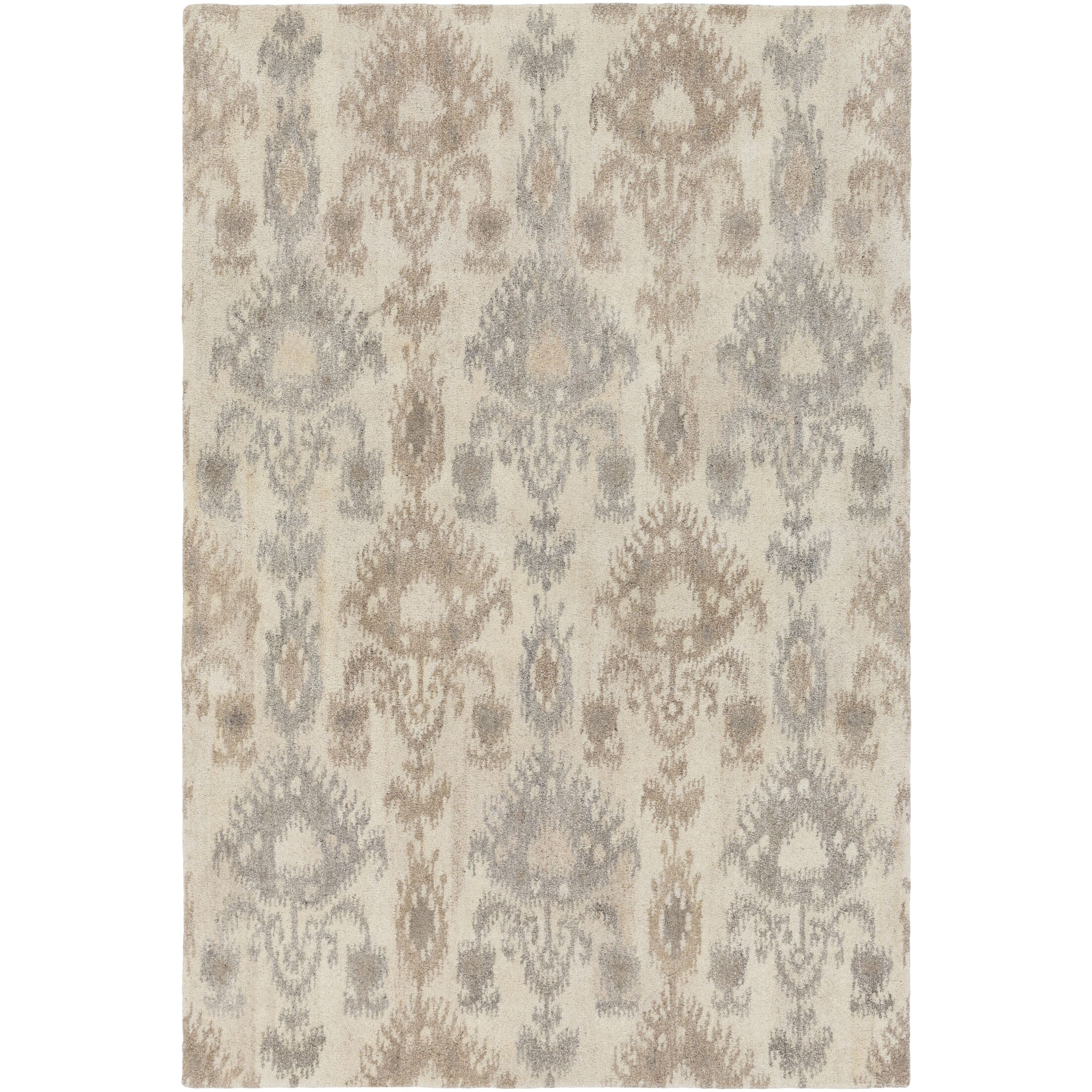 Lewis Hand-Tufted Cream/Taupe Area Rug Rug Size: Rectangle 8' x 10'