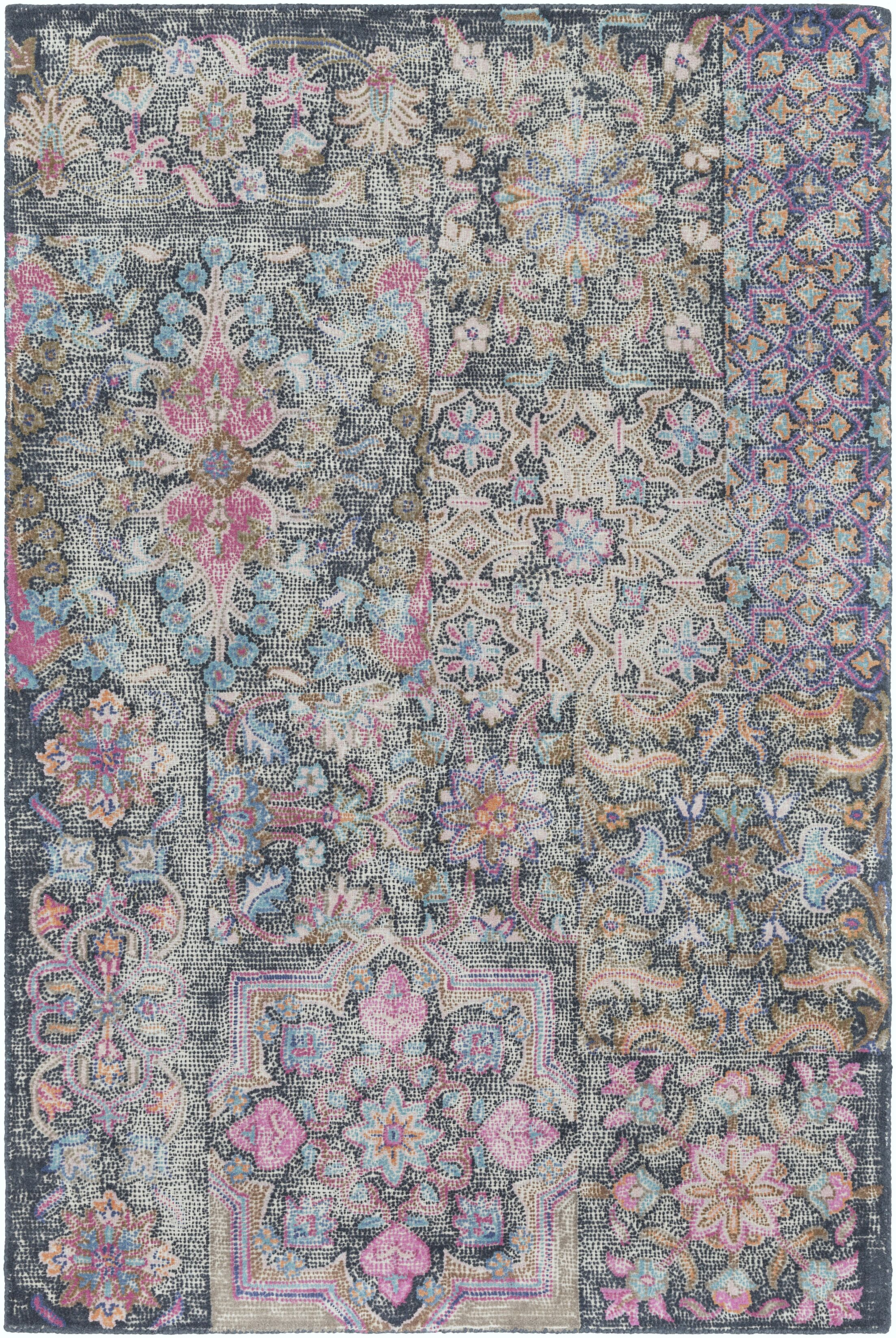 Knowland Hand-Tufted Bright Pink/Blush Area Rug Rug Size: Rectangle 8' x 10'