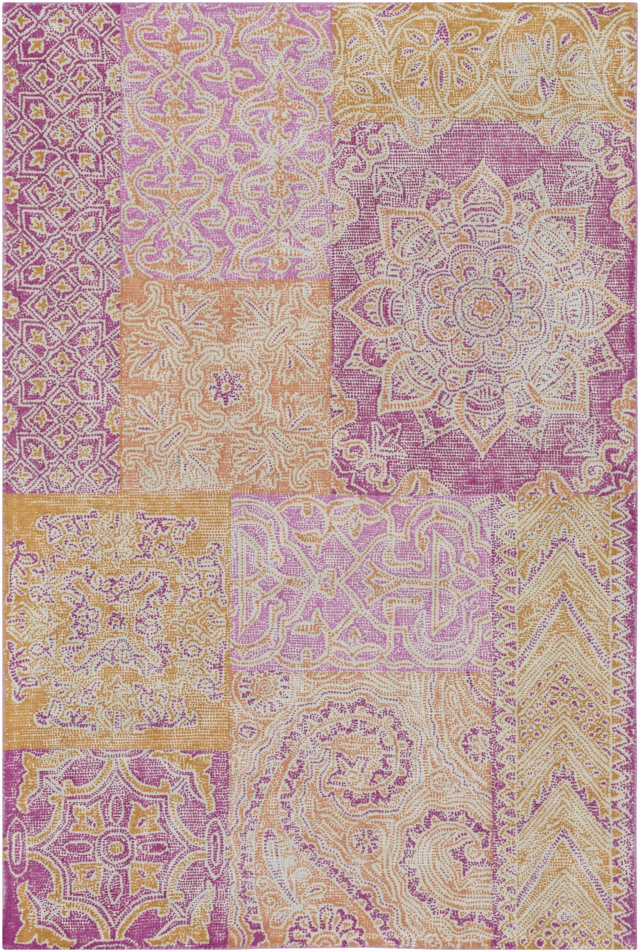 Knowland Hand-Tufted Bright Pink/Peach Area Rug Rug Size: Rectangle 5' x 7'6