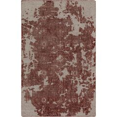 Jayden Hand-Knotted Coral/Dark Red Area Rug Rug Size: 2' x 3'
