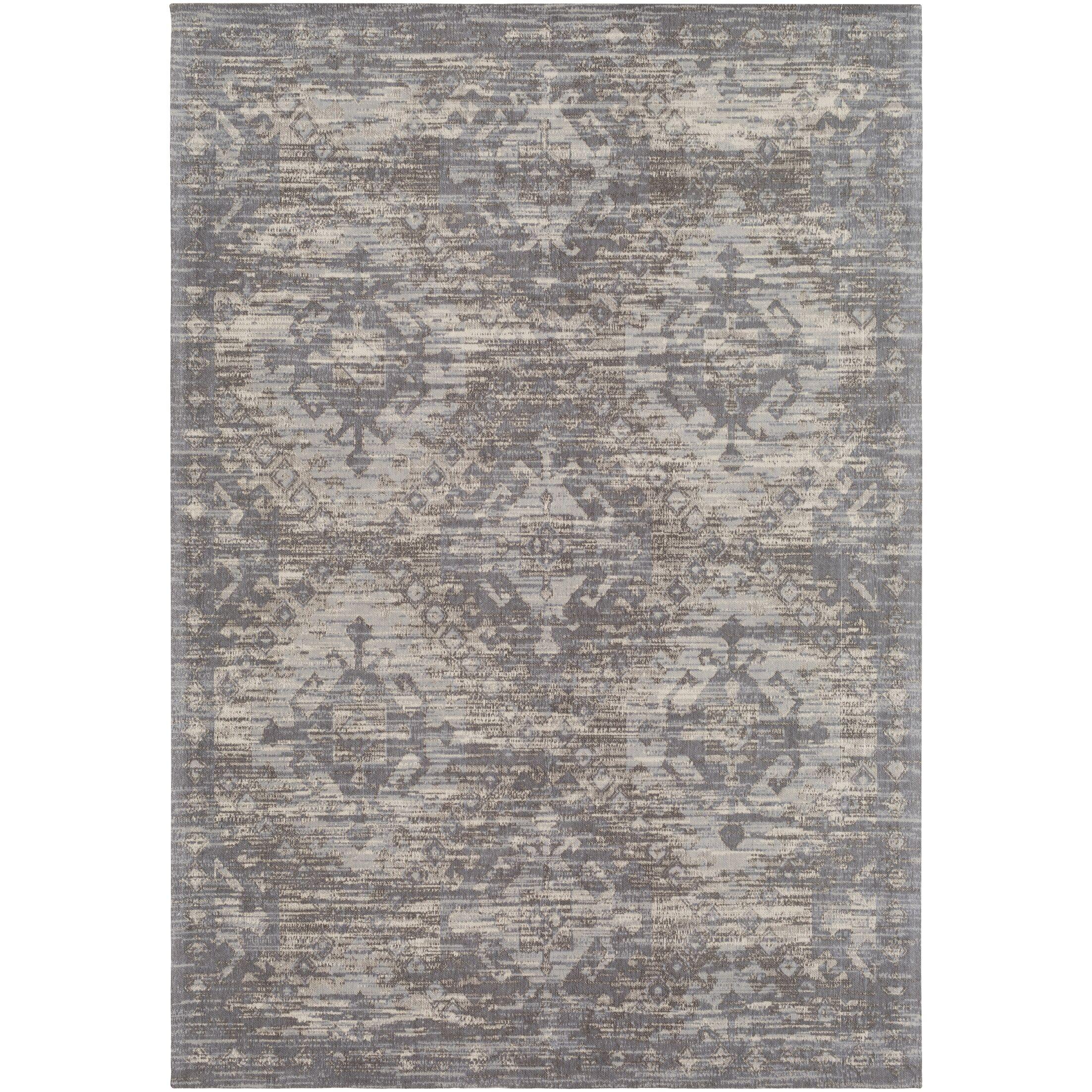 Hamza Hand-Woven Medium Gray/Beige Area Rug Rug Size: Rectangle 5' x 7'6