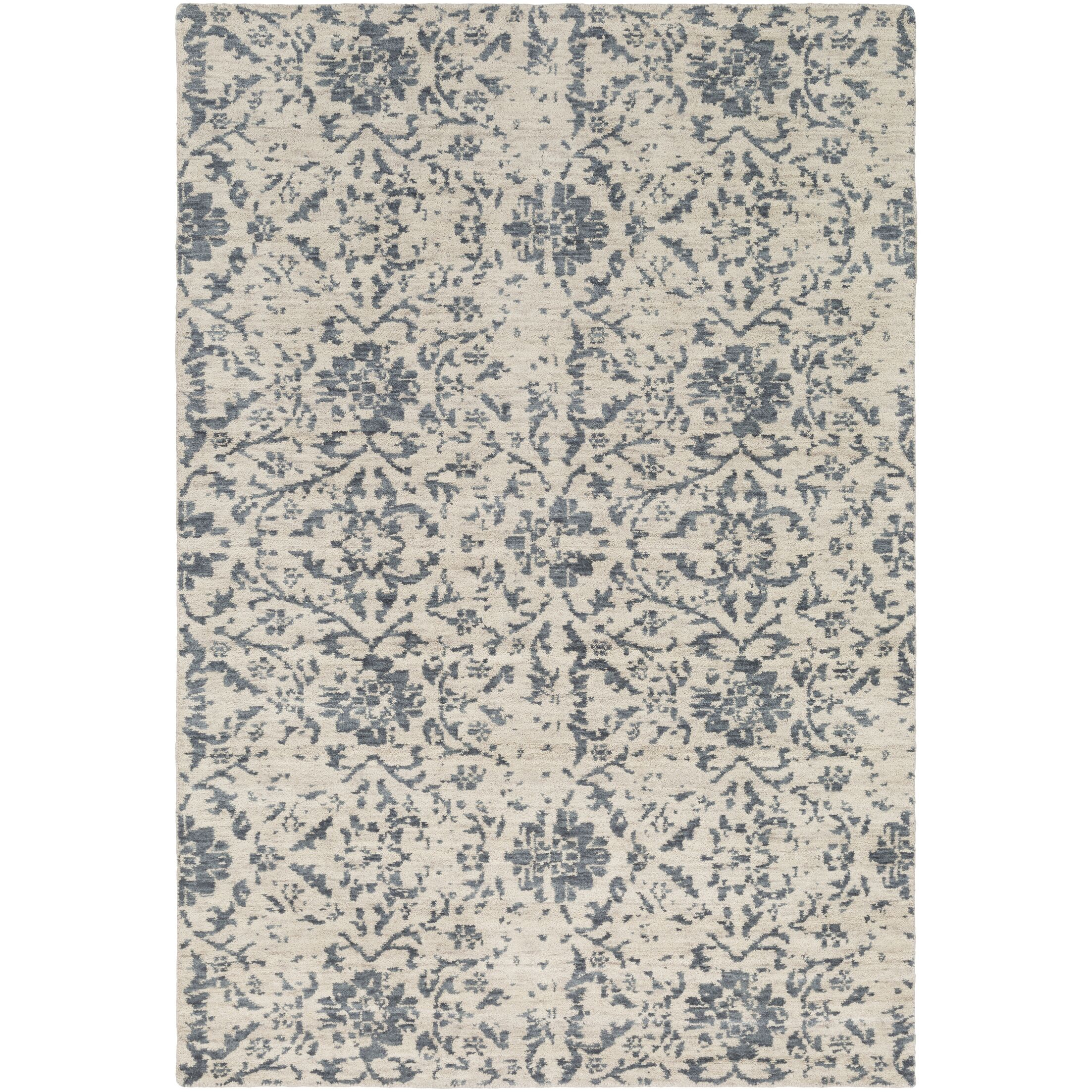 Ashton Hand-Knotted Denim/Khaki Area Rug Rug Size: Rectangle 2' x 3'