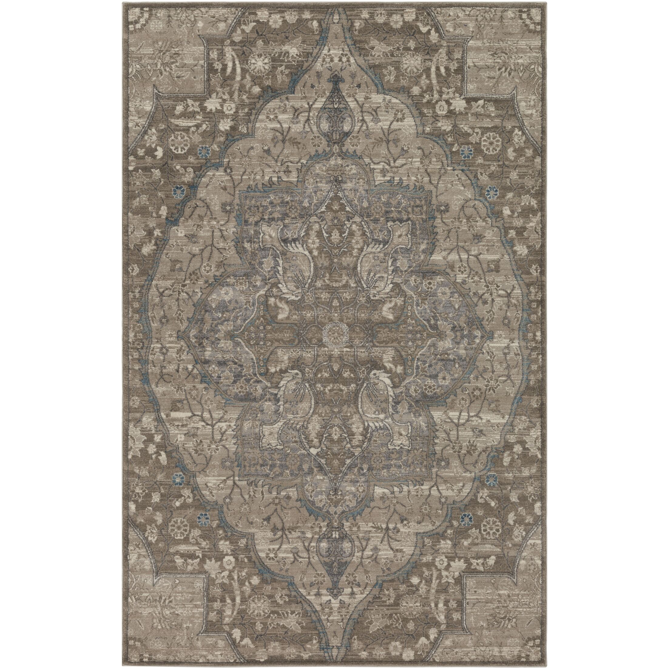 Ismael Floral Taupe/Cream Area Rug Rug Size: Rectangle 5' x 8'