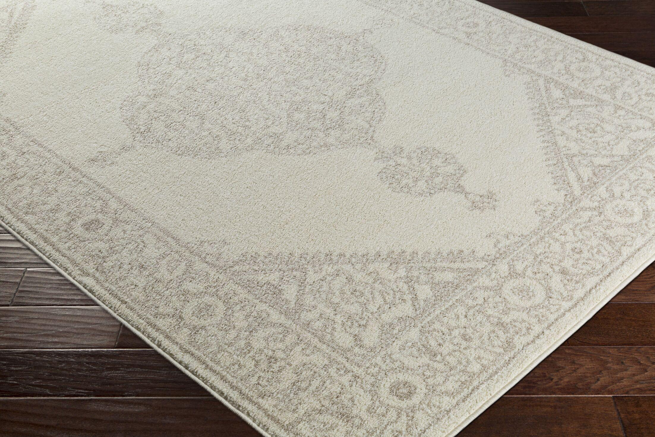 Corinna Beige/Gray Area Rug Rug Size: Rectangle 8' x 10'