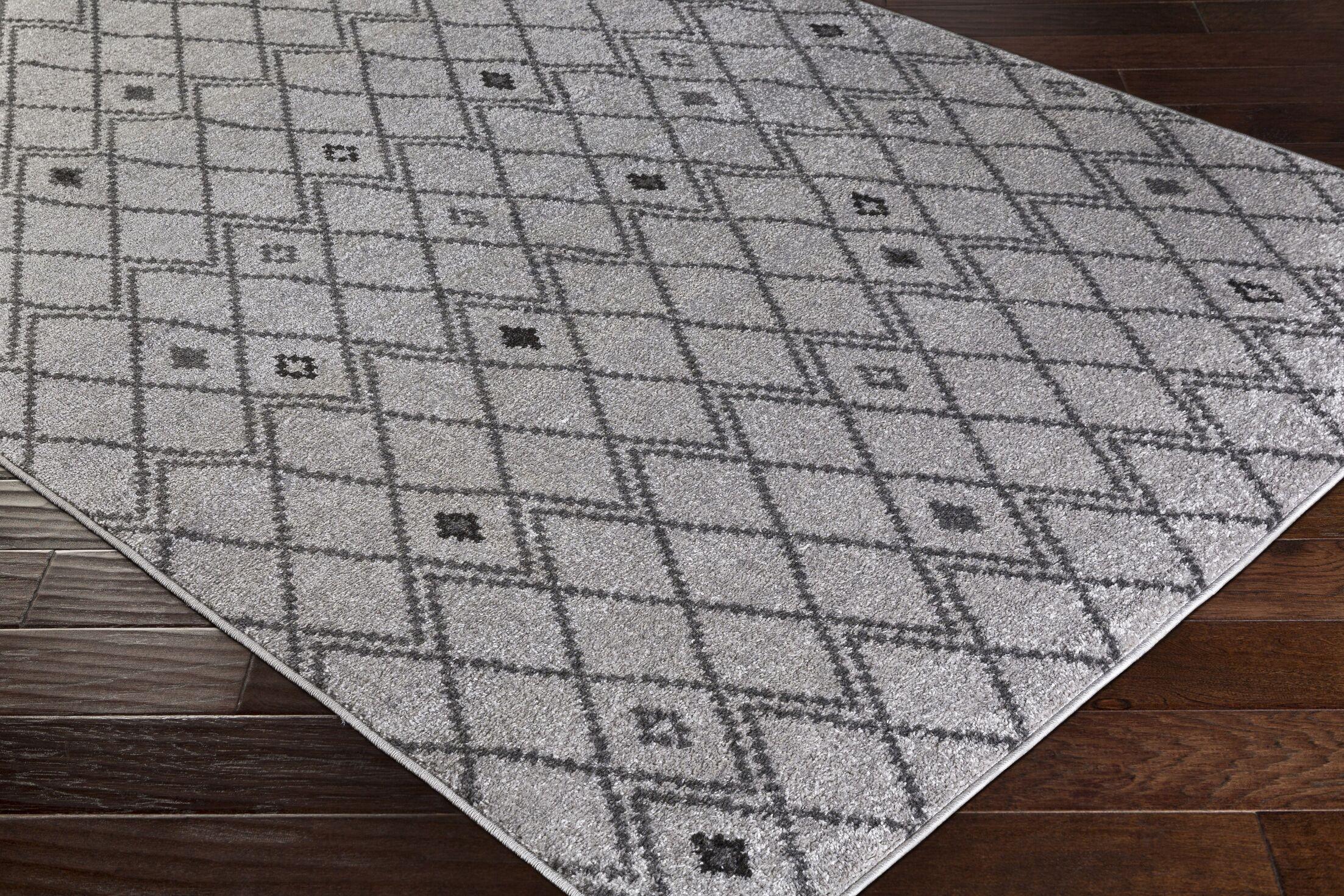 Corinna Medium Gray/Camel Area Rug Rug Size: Rectangle 5' x 7'6