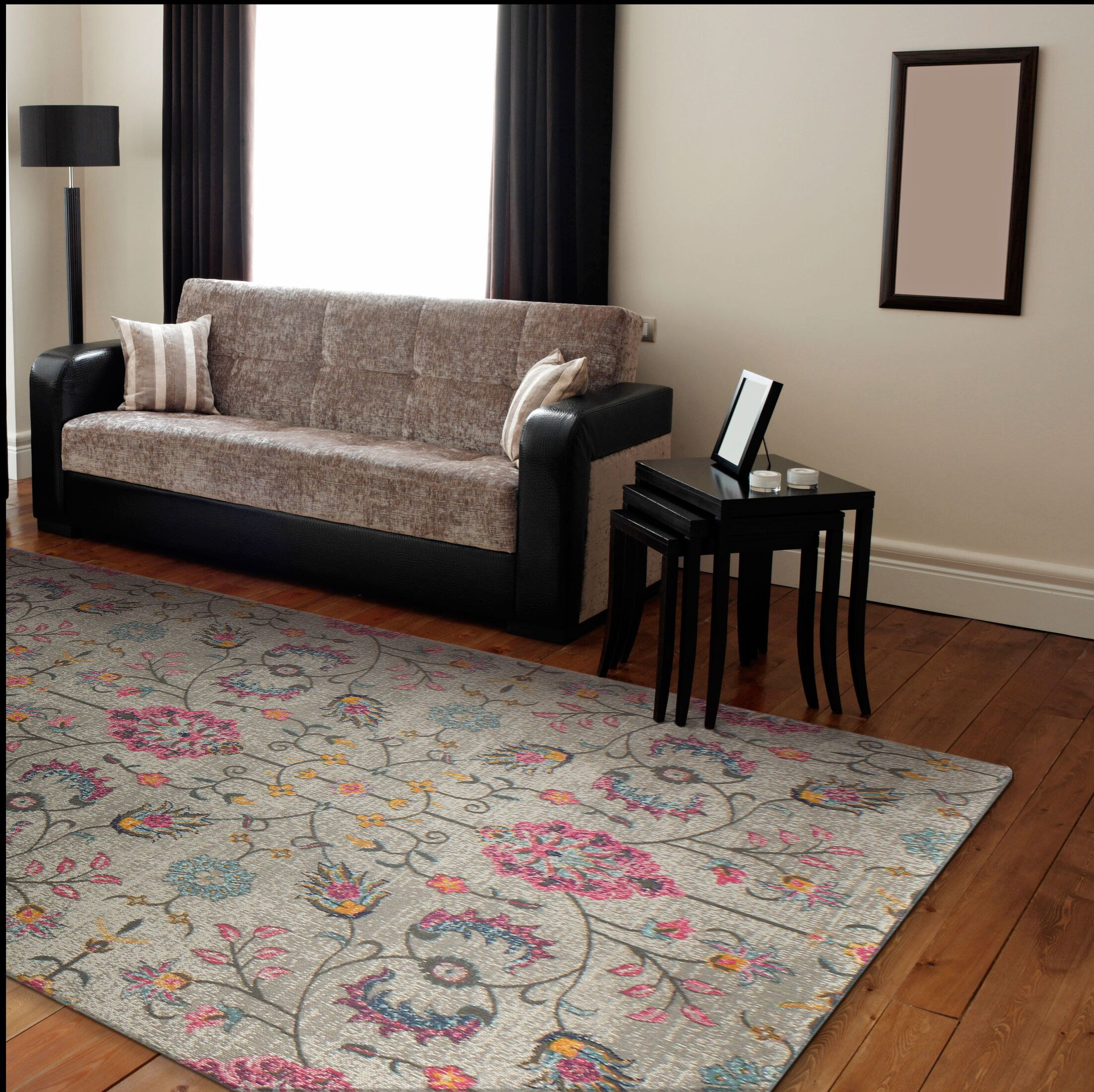 Ashburn Gray Area Rug Rug Size: 8'7