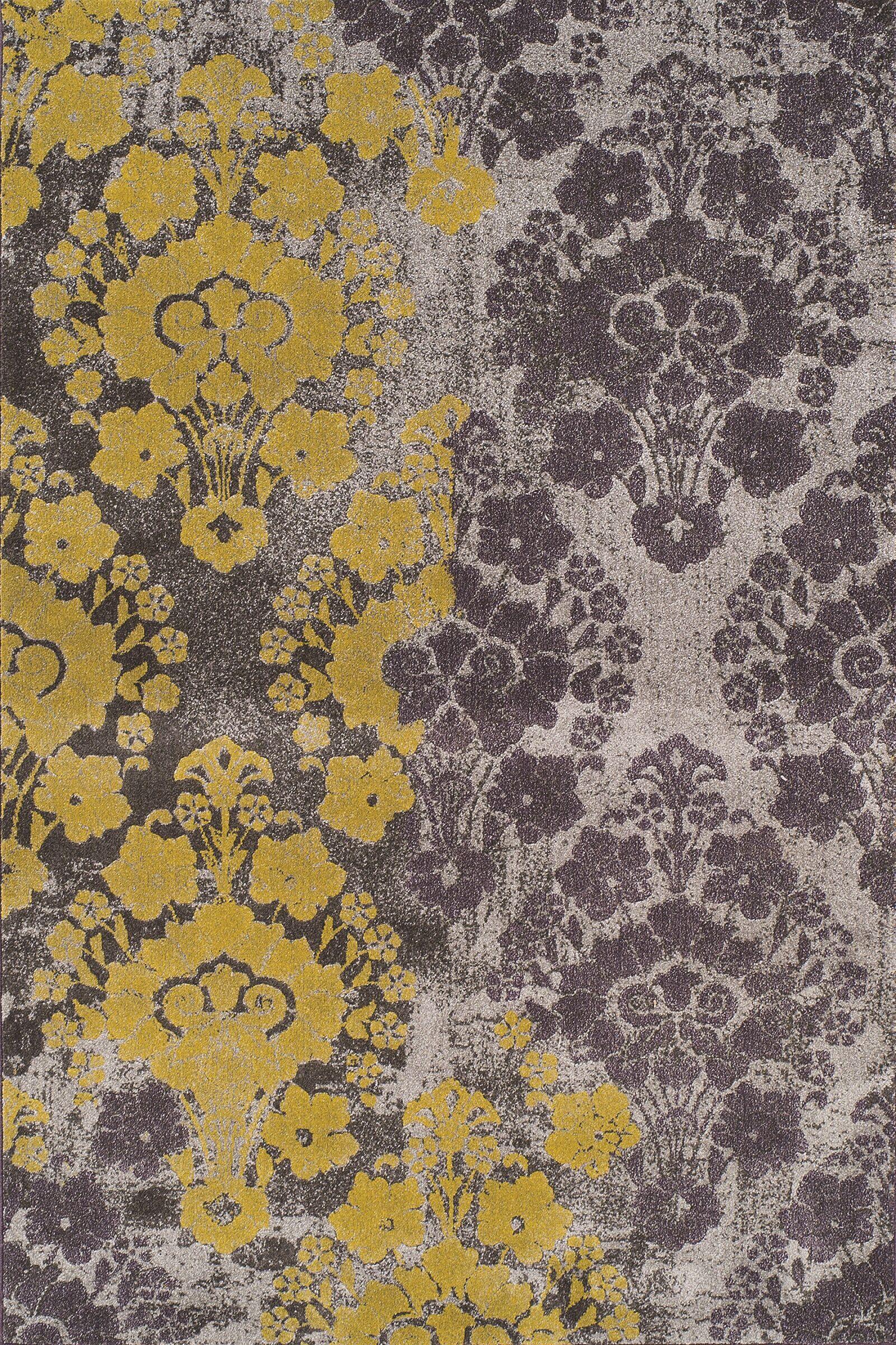 Wilton Gold/Grey Ikat Area Rug Rug Size: Rectangle 7'10