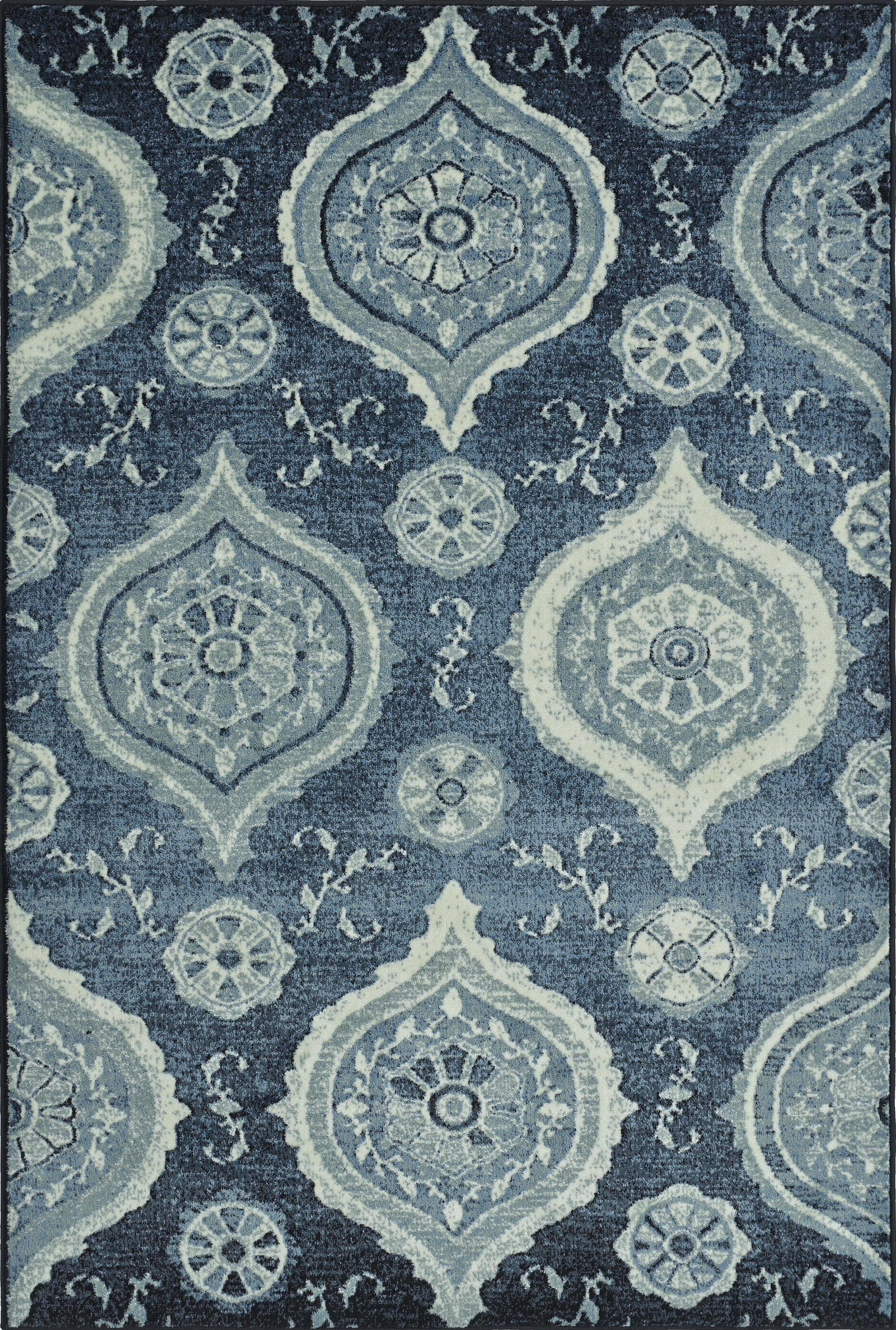 Birtha Blue Denim Area Rug Rug Size: Rectangle 4'11