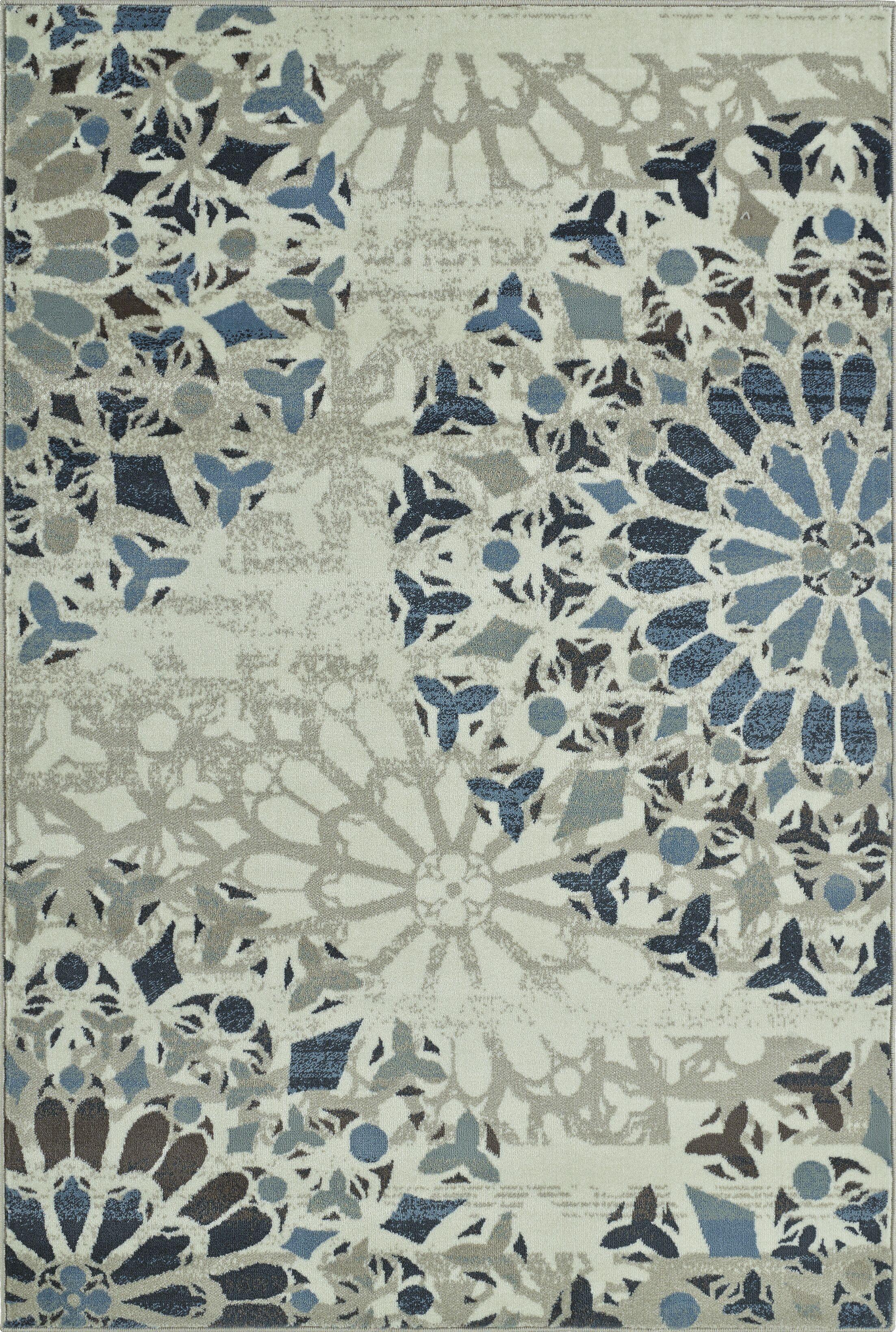 Birtha Ivory Area Rug Rug Size: Rectangle 4'11