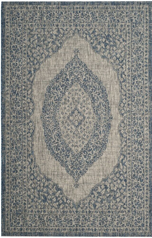 Myers Gray/Blue Area Rug Rug Size: Rectangle 8' x 11'
