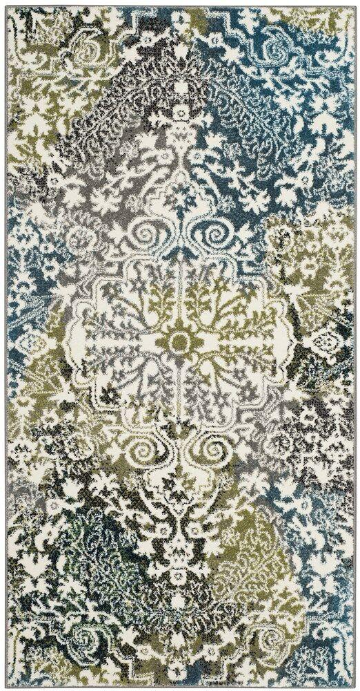 Sharmila Beige/Green Area Rug Rug Size: Rectangle 4' x 6'