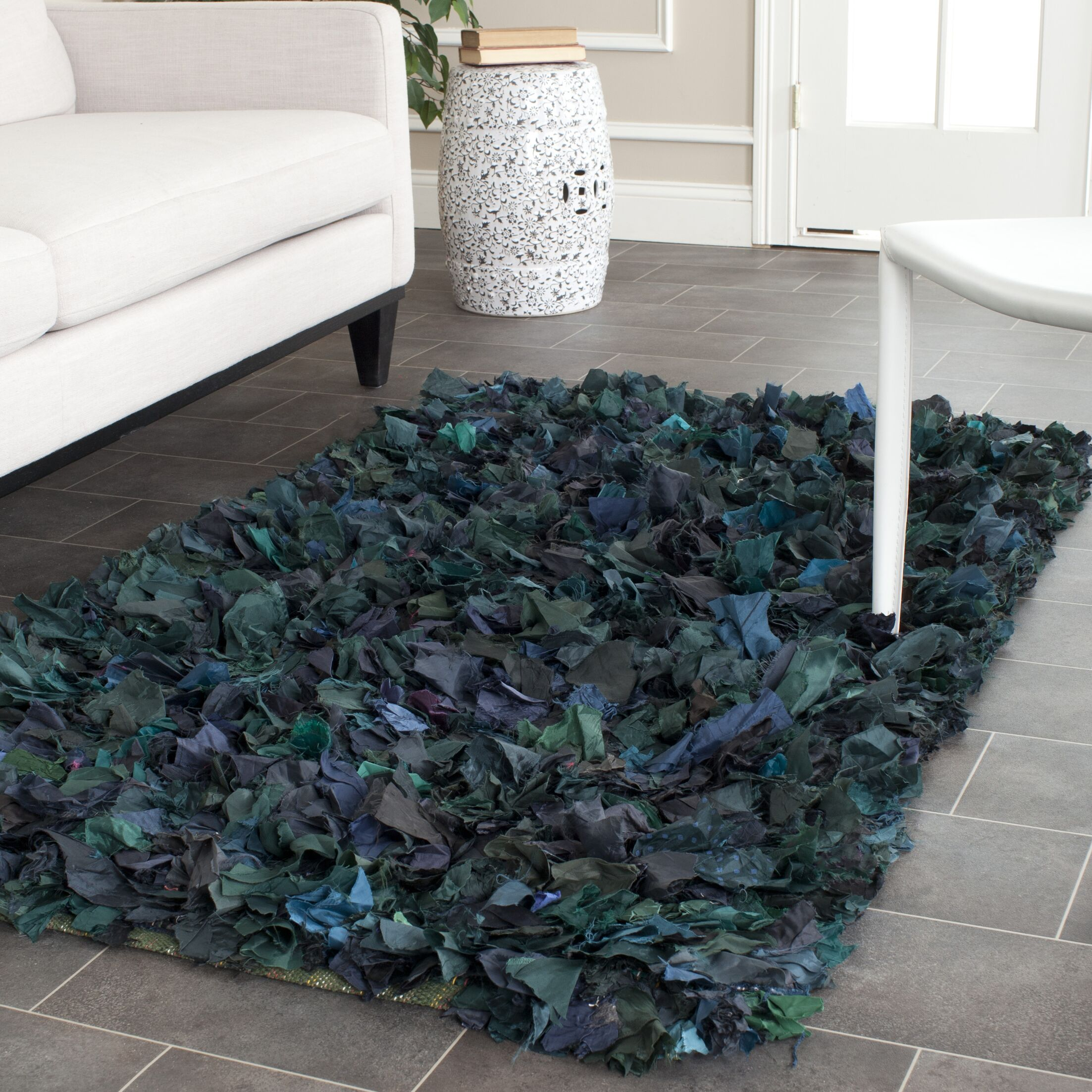 Messiah Green Shag Area Rug Rug Size: Rectangle 5' x 8'