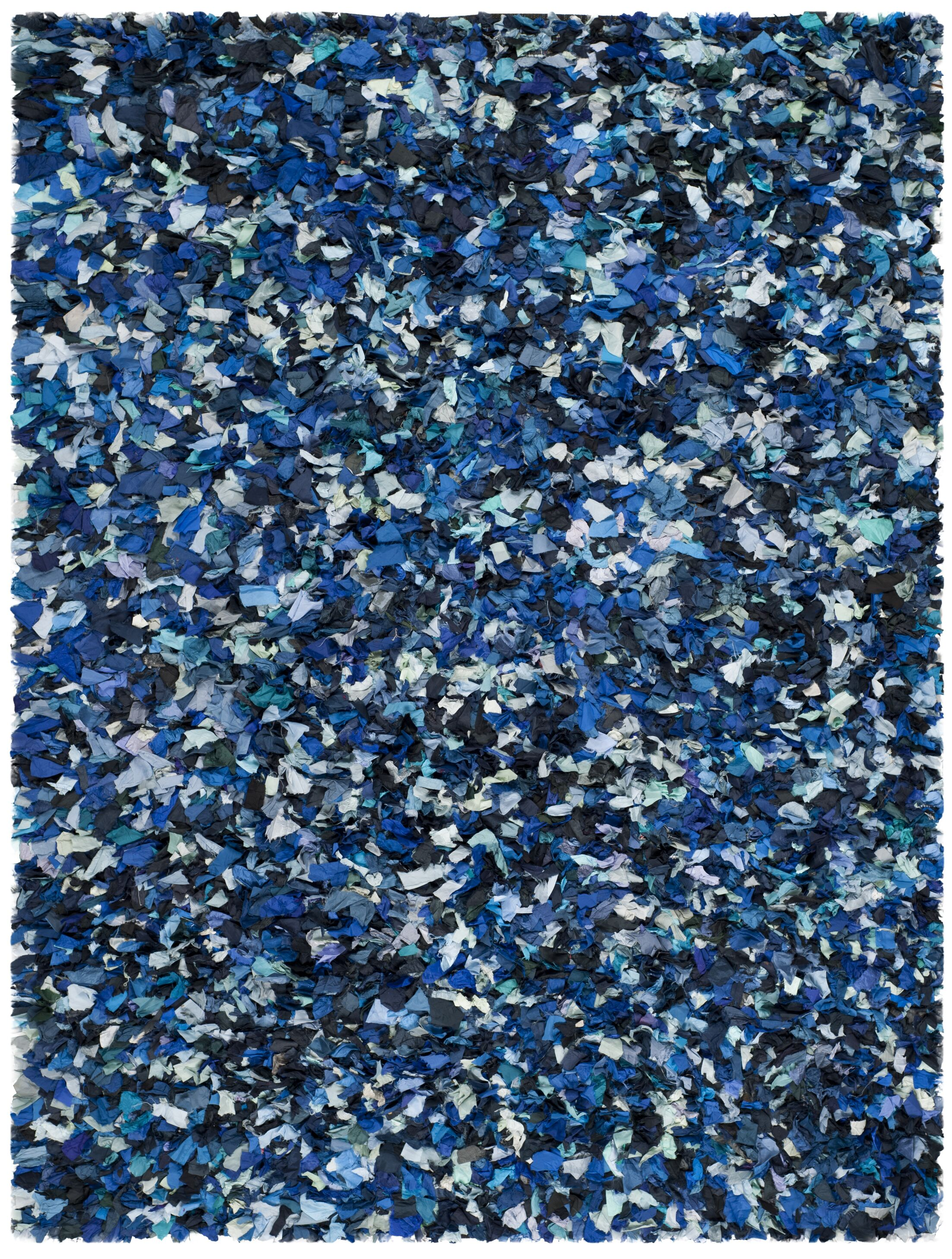 Messiah Hand-Tufted Blue/Black Area Rug Rug Size: Rectangle 8' x 10'