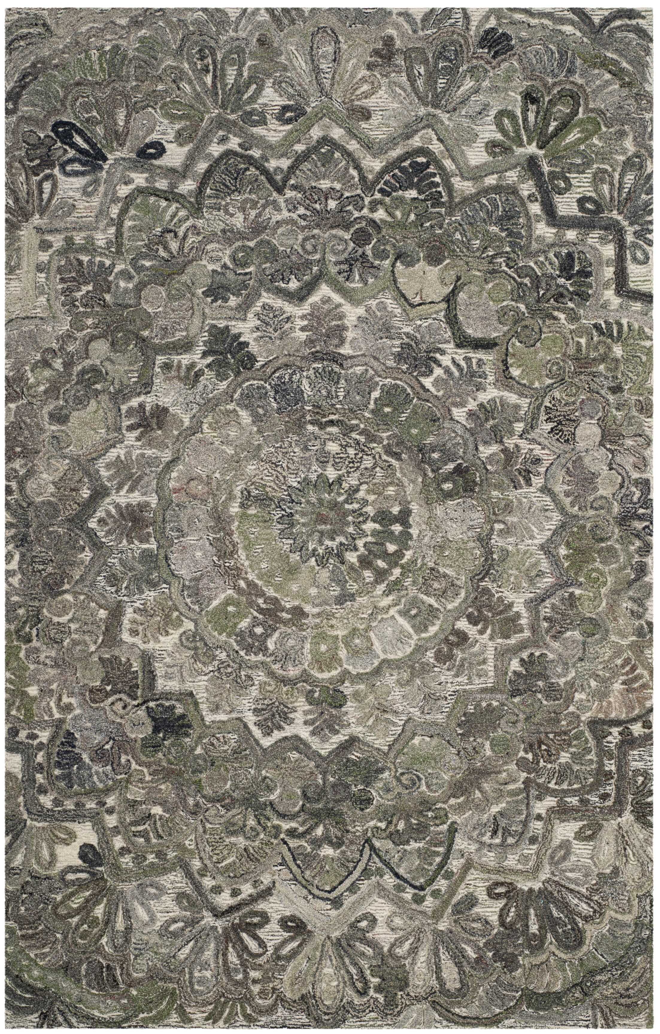 Brantley Hand-Tufted Gray Area Rug Rug Size: Rectangle 3' x 5'