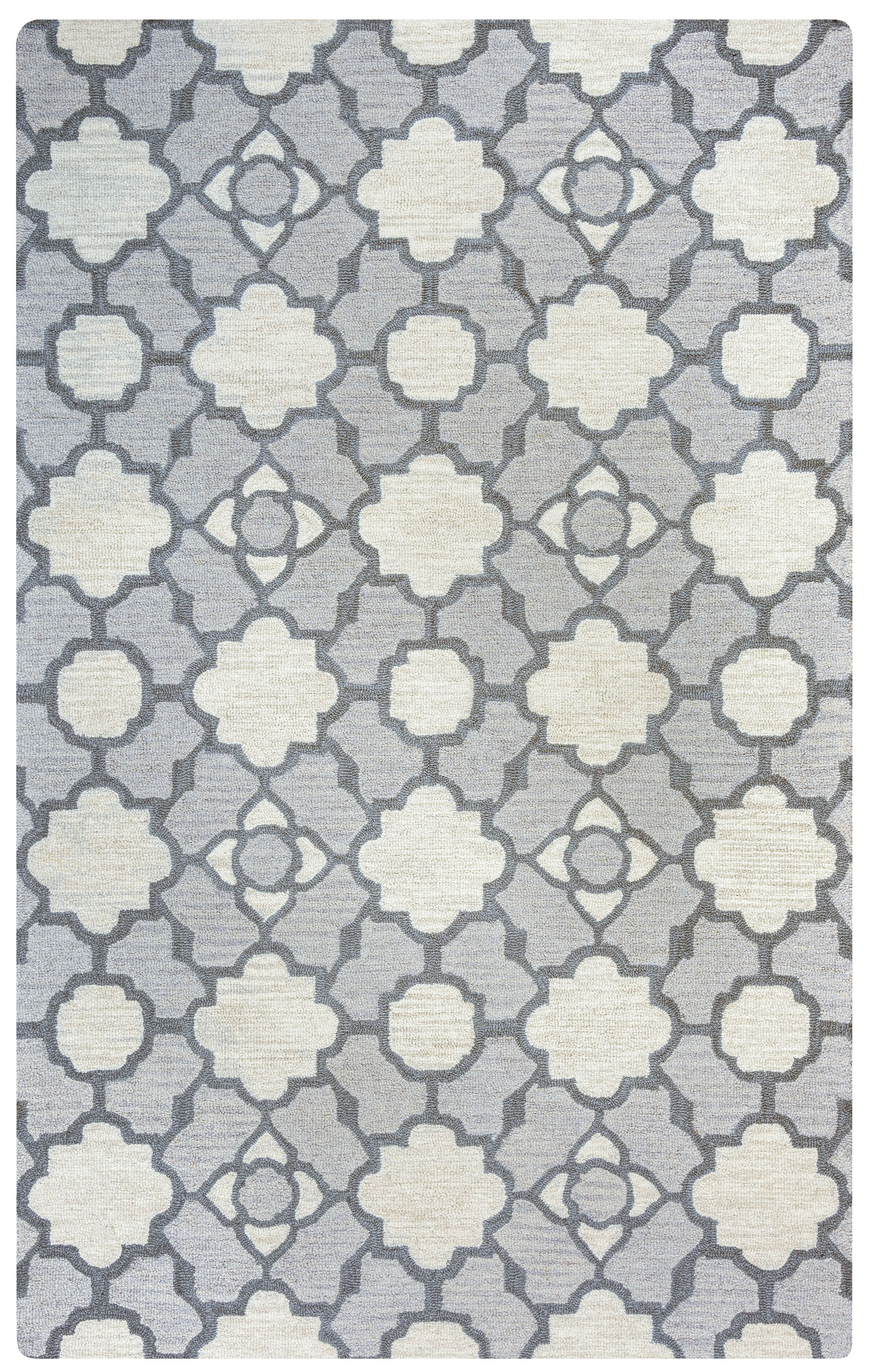Viktualien Hand-Tufted Light Gray Area Rug Rug Size: Rectangle 8' x 10'