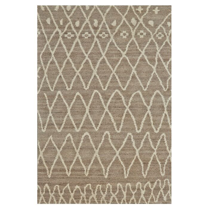 Louisa Hand-Knotted Natural/Slate Area Rug Size: Rectangle 9'6
