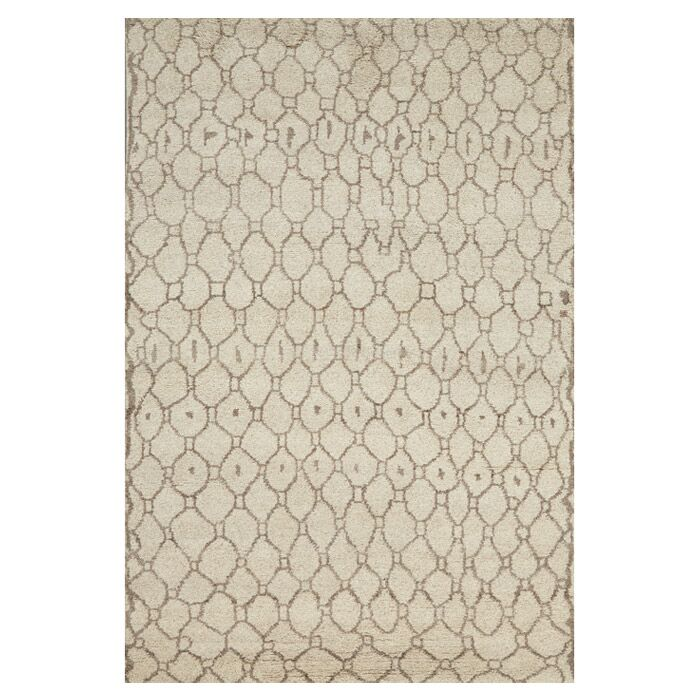 Alessandra Hand-Knotted Natural/Ecru Area Rug Size: Rectangle 8'6