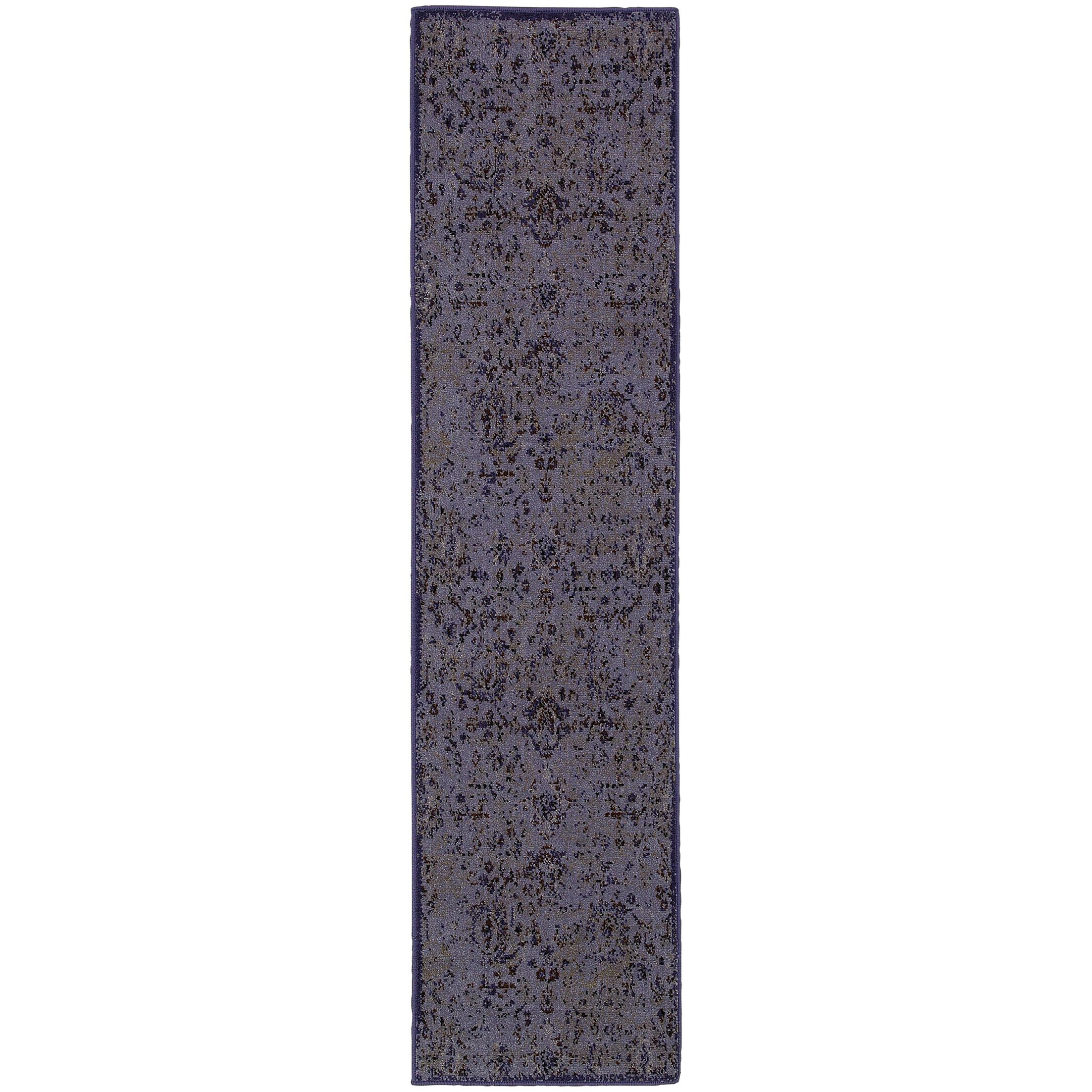 Raiden Purple/Beige Area Rug Rug Size: Runner 1'1 x 7'6