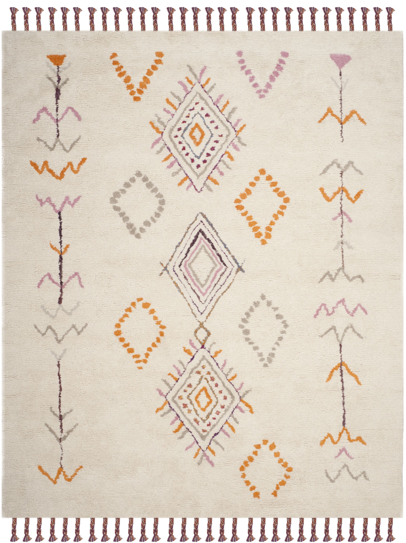 Lockheart Hand-Tufted Gray/Orange Area Rug Rug Size: Rectangle 8' x 10'
