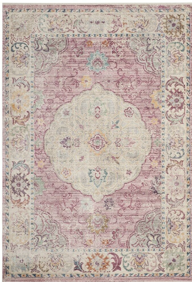 Soren Rose/Cream Area Rug Rug Size: Rectangle 5' x 8'