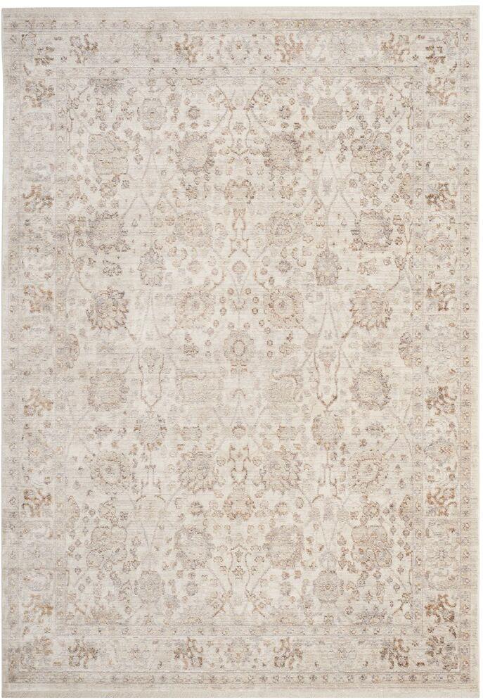 Soren Cream/Light Brown Area Rug Rug Size: Rectangle 4' x 6'