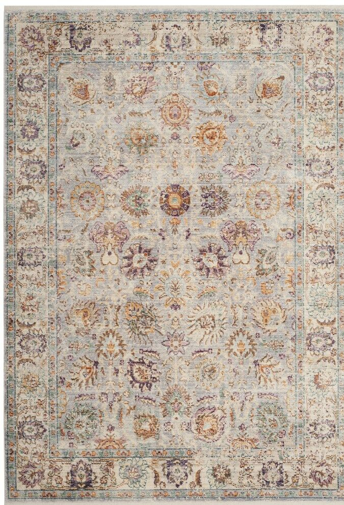 Soren Light Gray/Cream Area Rug Rug Size: Rectangle 6' x 9'